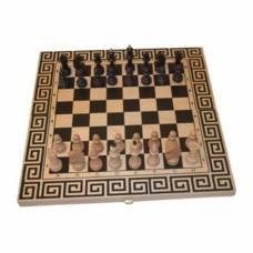 "Шахматный набор ""Древняя Греция"" 3 в 1 (шахматы, шашки, нарды), бук"