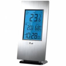 """Термогигрометр Ea2 Al802 """"Aluminium"""" с беспроводным датчиком"""