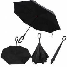Зонт обратный (черный)