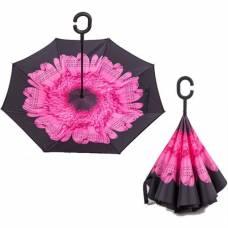Зонт обратный (розовый цветок)