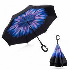 Зонт обратный (синий цветок)