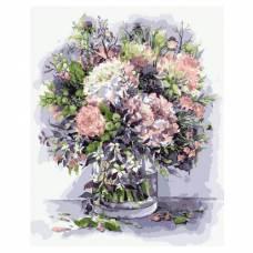 "Картина по номерам ""Букет с пионами и травами в сиреневых тонах"" размер 40x50 (арт. MG2061)"