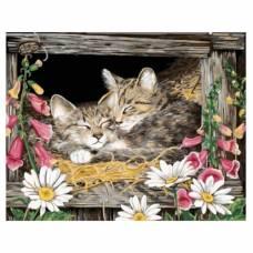 """Картина по номерам """"Котята в гнезде"""" размер 40x50 (арт. GX5606)"""