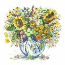 """Картина по номерам """"Подсолнухи в вазе"""" размер 40x50 (арт. MG2062)"""