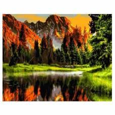 "Картина по номерам ""Пылающий закат в горах"" размер 40x50 (арт. GX3348)"