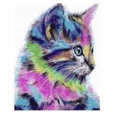 """Картина по номерам """"Разноцветная кошка"""" размер 40x50 (арт. MG2077)"""