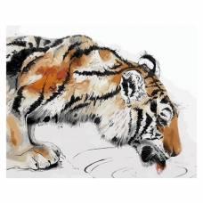 """Картина по номерам """"Тигр на водопое"""" размер 30x40 (арт. ME1067)"""