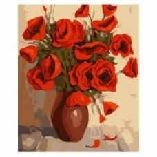 """Картина по номерам """"Ваза с розами"""" размер 30x40 (арт. ME1023)"""