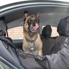 """Автогамак для перевозки собак в машине """"OSSO Car Premium 125x170 Grey"""" с защитой обивки дверей"""