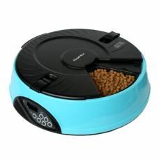 """Автокормушка """"Feed-Ex PF2B"""" с ЖК дисплеем для кошек и собак (голубая)"""